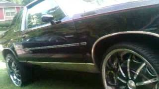 Blacked Out Oldsmobile Cutlass On 24 Irocs Music Videos