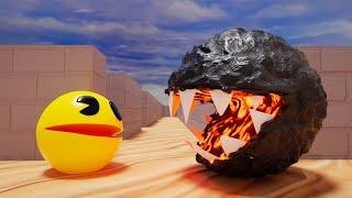 Pacman Vs Lava Monster (Level 10)