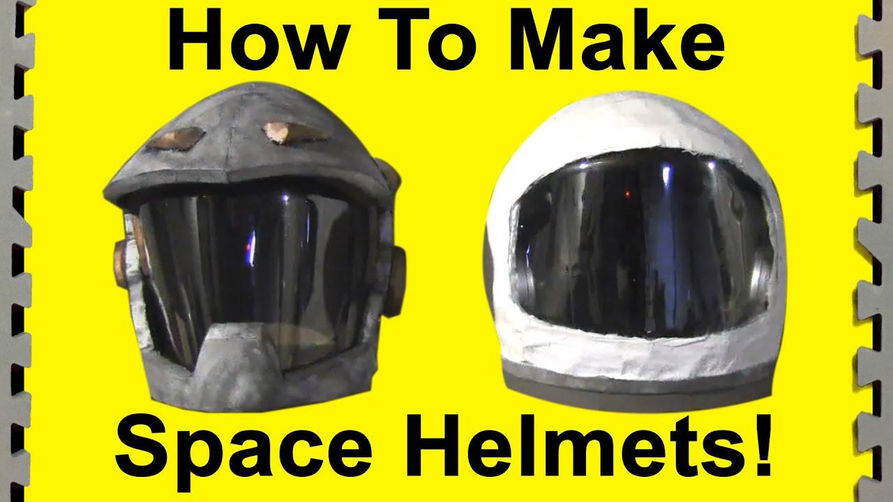 DIY Space Helmets (film props) - YouTube