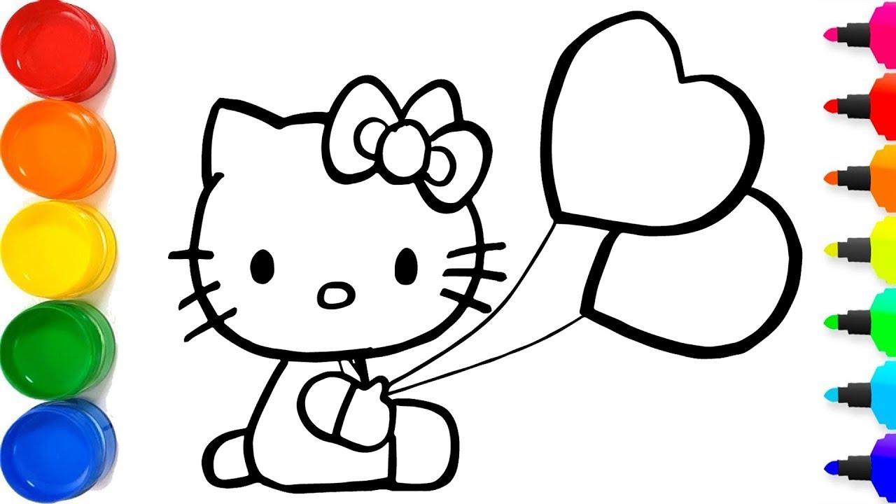 Cara Menggambar Hello Kitty Yang Berkilauan Untuk Anak An