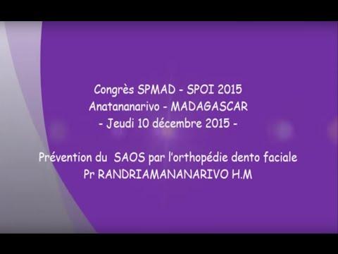 Prévention du SAOS par l'orthopédie dento faciale Pr RANDRIAMANANARIVO H. M.