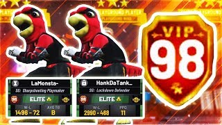 HITTING 98 OVERALL & UNLOCKING MASCOTS IN NBA 2K19 - HANKDATANK + LAMONSTA BEST DUO EVER
