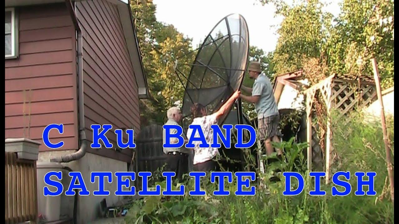 Setting up a C Ku Band Satellite Dish Part 2 Dish, LNB