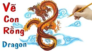 Vẽ Tranh Con Rồng 3D - How to draw a Dragon 3D