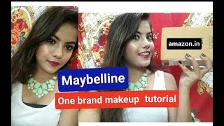 *MAYBELLINE* One brand makeup tutorial !! Style with me !!