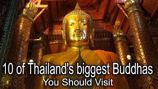 Large Buddha statues in Thailand