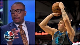Paul Pierce says he 'pioneered' the stepback during Luka Doncic stepback montage | NBA Countdown