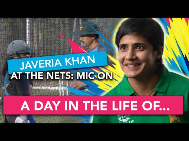 Javeria Khan micd up | At the Nets | Womens T20 World Cup