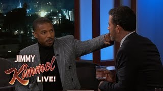 Michael B. Jordan Punches Jimmy Kimmel
