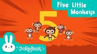 Five Little Monkeys | DoReBeat | The Best Nursery Rhymes & Kids Songs