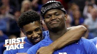 Zion Williamson's return makes Duke a heavy favorite to win NCAA tournament - Jay Bilas | First Take