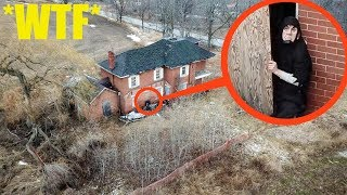 you will not believe what my drone found in this haunted abandoned house... (very disturbing)