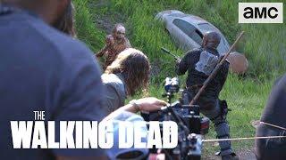 'Downhill Walker Attack & Morgan vs Jesus' Behind the Scenes Ep. 803 | The Walking Dead