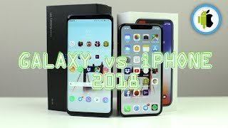 Samsung Galaxy S9+ vs Apple iPhone X, confronto in italiano