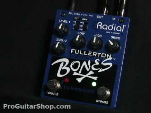 Radial Fullerton Bones Distortion Pedal