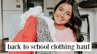 back to school clothing haul (try-on)