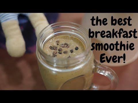 Healthy Chocolate Smoothie Recipes   Chocolate Breakfast Smoothie with Avocado, Banana, cocoa Powder
