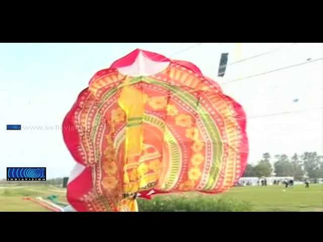 Kite portraying Kathakali grab attention in Delhi Kite Festival
