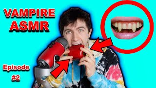 VAMPIRE ASMR...(VASMR) !!!CANDY CRAYONS, COCONUT OIL, JELLY SHOTS, PEPPER, AND MORE!! *VERY RELAXING