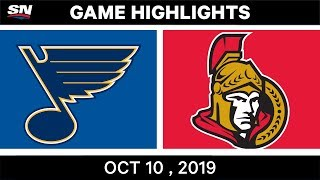 NHL Highlights | Blues vs. Senators - Oct. 10, 2019