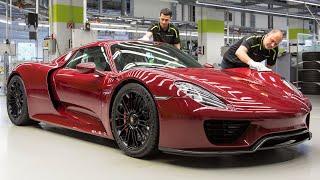 Xem Porsche 918 Spyder được chế tạo bằng tay