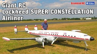 GIANT 1:6 scale Radio Controlled (RC) Lockheed SUPER CONSTELLATION TWA 'Star of America' AIRLINER