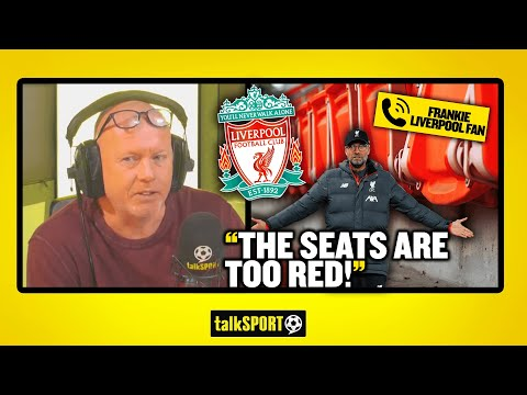 """""""THE SEATS ARE TOO RED!"""" Frankie the Liverpool fan blames the colour red for Liverpool's poor form!"""