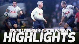 GOALS GALORE AT SPURS NEW STADIUM | HIGHLIGHTS | SPURS LEGENDS 4-5 INTER FOREVER