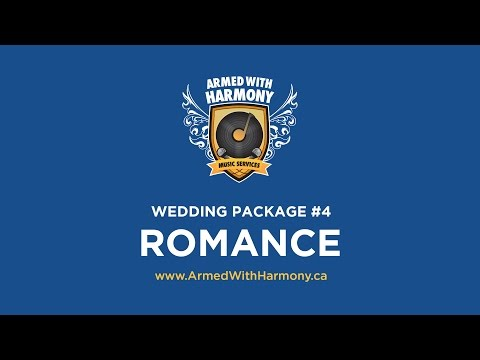 Saskatoon Wedding DJ   Armed With Harmony Wedding Package #4