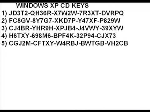 Windows xp cd keys - YouTube