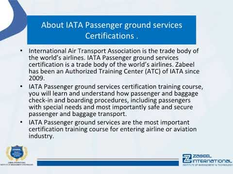 How long is passenger ground services certification? Passenger ground services certification