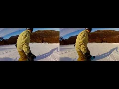 3D GoPro Snowboarding - Thredbo in 3D, June & July 2012
