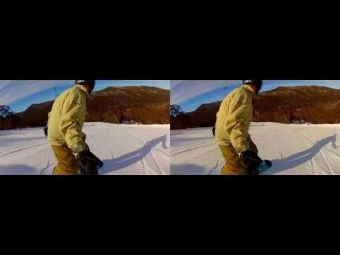 3D GoPro Snowboarding - Thredbo in 3D, June & July 2012
