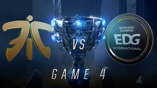 FNC vs EDG | Quarterfinal Game 4 | World Championship | Fnatic vs Edward Gaming (2018)