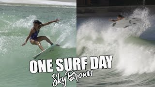 One Surf Day in Texas! | Sky Brown