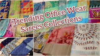 Latest Trending Digital Prints Office Wear Saree Collections   Semi Jute Silk  Printed Chanderi Silk