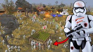 Most Brutal FIRST ORDER Army INVASION Ever! - Men of War: Star Wars Mod Battle Simulator