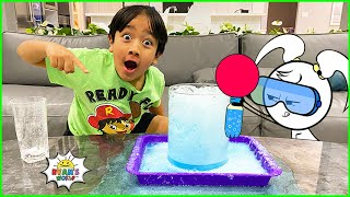 Ryan does DIY Science Experiments with Emma and Kate EK Doodles!