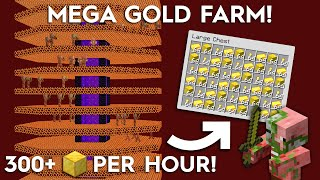 Minecraft Portal Based Gold Farm - 50,000 Items Per Hour!