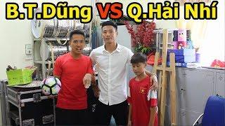 Thử Thách bóng đá Bùi Tiến Dũng U23 Việt Nam khiến Quang Hải Nhí bất ngờ