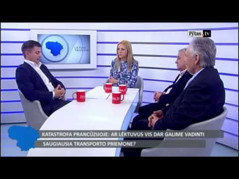 Gediminas Ziemelis discusses aircraft safety on LRytas TV