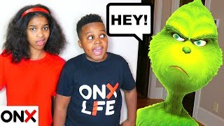THE GRINCH Visits Shiloh and Shasha - Onyx Family