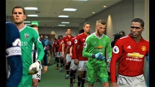 Manchester United vs West Bromwich 2018 | Full Match | PES 2018 Gameplay HD