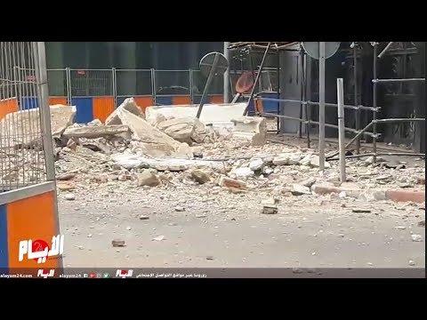 انهيار جزء كبير من طابق العلوي بعمارة ليوطي يرعب الساكنة والمارة بالدار البيضاء