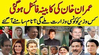 Pakistan News Live Today| Cabinet Members for Prime Minister of Pak Imran Khan | PTI Cabinet Members