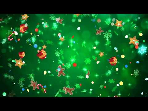 Green Christmas Video Background Loop - No Audio