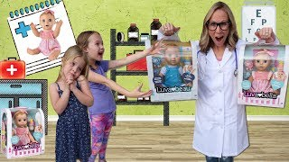Kids Pretend to Be Sick at Toy Doctor  !!!