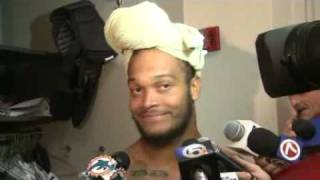 Miami Dolphins LB Channing Crowder talking crap about the NEW YORK JETS. Part1