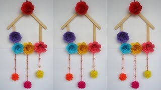 DIY Ice Cream Stick Crafts How To Make Wall Hanging With