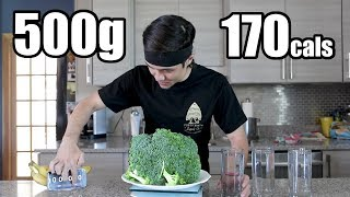 500g Raw Broccoli Challenge DESTROYED